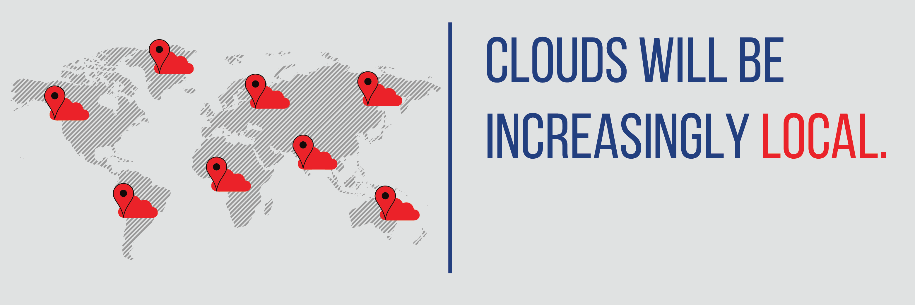 Clouds will be increasingly local