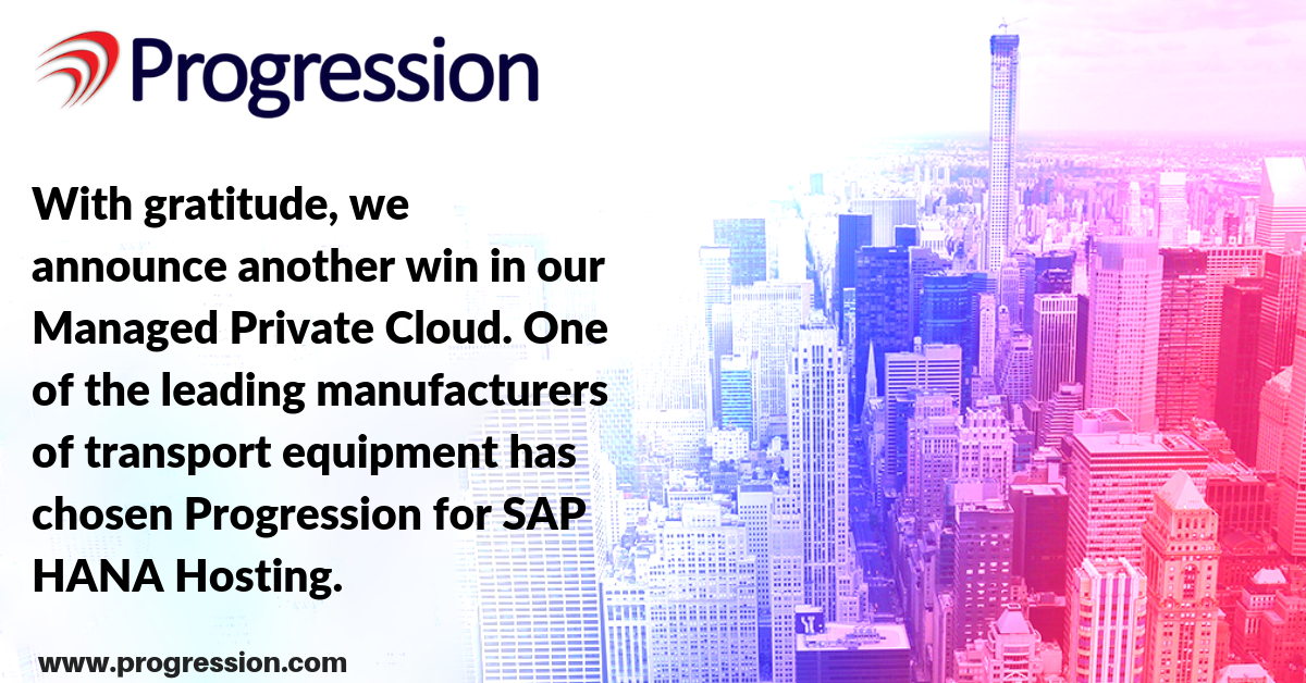 progression sap hana cloud