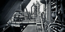 black-and-white-factory-industrial-plant-machinery-415945